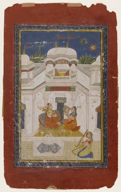 Indian. Bilavala Ragini, ca. 1770-1790. Opaque watercolor and gold on paper, sheet: 12 7/8 x 7 7/8 in.  (32.7 x 20.0 cm). Brooklyn Museum, Gift of Emily Manheim Goldman, 1991.180.8