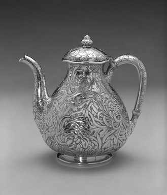Gorham Manufacturing Company (founded 1865). Teapot, ca. 1894. Silver, 8 x 8 x 5 1/2 in. (20.3 x 20.3 x 14.0 cm). Brooklyn Museum, Bequest of DeLancey Thorn Grant in memory of her mother, Louise Floyd-Jones Thorn, by exchange, 1991.198. Creative Commons-BY