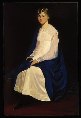 George Benjamin Luks (American, 1867-1933). Portrait of a Young Girl (Antoinette Kraushaar), 1917. Oil on canvas, 60 1/8 x 40 1/16 in. (152.7 x 101.7 cm). Brooklyn Museum, Gift of Antoinette M. Kraushaar, 1991.205