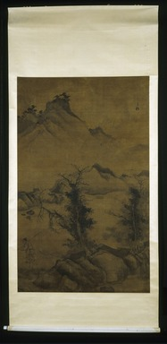 Jiang Song. Landscape with Fisherman, 1368-1644. Hanging Scroll, Ink on paper, Overall: 93 x 43 in. (236.2 x 109.2 cm). Brooklyn Museum, Gift of C.C. Wang & Family Collection, 1991.237.2