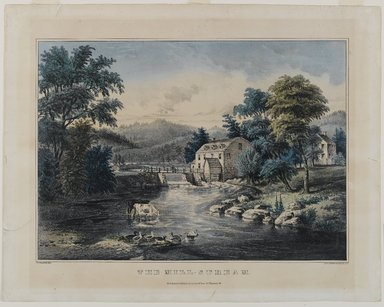 Nathaniel Currier (American, 1813-1888). The Mill-Stream, n.d. Hand-colored lithograph on wove paper, 11 x 15 1/4in. (27.9 x 38.7cm). Brooklyn Museum, Gift of Mrs. Harry Elbaum in honor of Daniel Brown, art critic, 1991.285.14