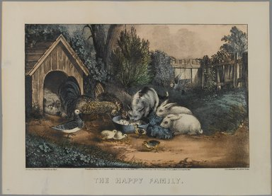 Currier & Ives (American). The Happy Family, n.d. Hand-colored lithograph on wove paper, Sheet: 10 5/8 x 14 15/16 in. (27 x 38 cm). Brooklyn Museum, Gift of Mrs. Harry Elbaum in honor of Daniel Brown, art critic, 1991.285.16