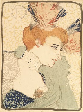 Henri de Toulouse-Lautrec (French, 1864-1901). Bust of Miss Marcelle Lender, 1895. Color lithograph on wove paper, 12 x 10in. (30.5 x 25.4cm). Brooklyn Museum, Gift of Lucile E. Selz, 1991.293