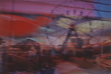 Lynn Hyman Butler (American, born 1953). Wonder Wheel at Night, ca. 1988. Silver dye bleach photograph (Cibachrome), image: 9 1/16 x 13 3/8 in. (23 x 34 cm). Brooklyn Museum, Gift of Ilford Photo Corporation, 1991.59.5. © Lynn Hyman Butler