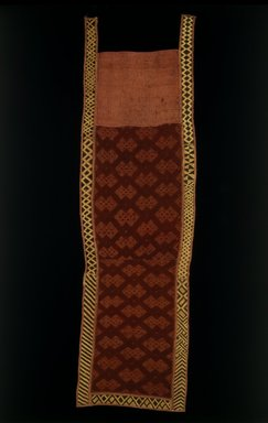 Kuba. Overskirt, late 19th or early 20th century. Raffia, 75 1/2 x 22 in. (191.8 x 55.9 cm). Brooklyn Museum, Purchased with funds given by Frieda and Milton F. Rosenthal, 1991.72. Creative Commons-BY