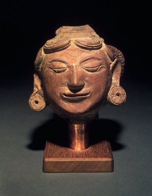 Head of a Female, 13th-14th centuries. Terracotta, height: 4 3/4 in. Brooklyn Museum, Gift of Cynthia Hazen Polsky, 1991.79.1. Creative Commons-BY