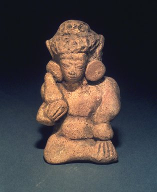 Seated Figurine, 13th-14th centuries. Terracotta, height: 3 1/2 in. Brooklyn Museum, Gift of Cynthia Hazen Polsky, 1991.79.12. Creative Commons-BY