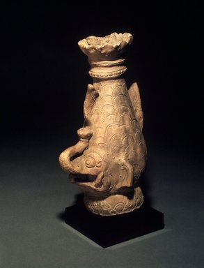 """""""Fish"""" Finial with Elephant Spout, 13th-14th centuries. Terracotta, 11 1/4 x 6 1/2 in. Brooklyn Museum, Gift of Cynthia Hazen Polsky, 1991.79.4. Creative Commons-BY"""