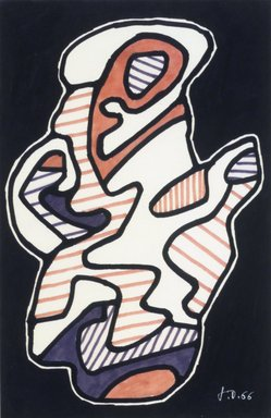 Jean Dubuffet (French, 1901-1985). La Cafetiere, 1966. Felt tip pen on paper, 9 3/4 x 6 7/16 in. (24.8 x 16.4 cm). Brooklyn Museum, Bequest of William K. Jacobs, Jr., 1992.107.7. © Fondation Dubuffet