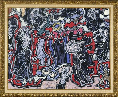 Jean Dubuffet (French, 1901-1985). Rue Tournique Bourlique, 1963. Oil on canvas, 28 13/16 x 36 1/8 in. (73.2 x 91.8 cm). Brooklyn Museum, Bequest of William K. Jacobs, Jr., 1992.107.9. © Fondation Dubuffet