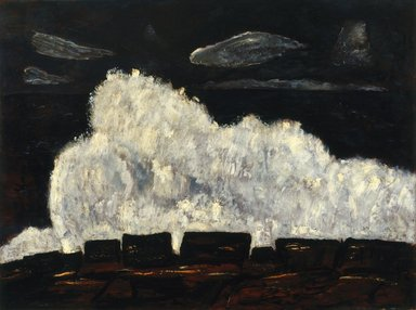 Marsden Hartley (American, 1877-1943). Evening Storm, Schoodic, Maine No. 2, 1942. Oil on fabricated board, 30 x 40 1/2 in. (76.2 x 102.9 cm). Brooklyn Museum, Bequest of Edith and Milton Lowenthal, 1992.11.18. © Estate of Marsden Hartley, Yale University Committee on Intellectual Property