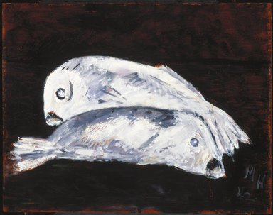 Marsden Hartley (American, 1877-1943). White Cod, 1942. Oil on composition board, 22 x 28 in. (55.9 x 71.1 cm). Brooklyn Museum, Bequest of Edith and Milton Lowenthal, 1992.11.20. © Estate of Marsden Hartley, Yale University Committee on Intellectual Property