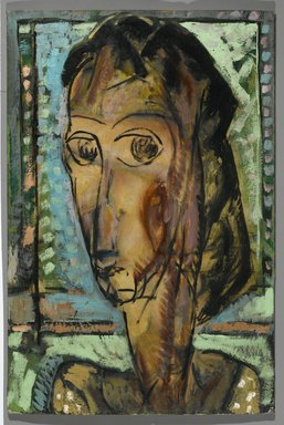 Alfred Henry Maurer (American, 1868-1932). Head of a Girl, 1929. Oil on fabricated board, 29 13/16 x 19 13/16 in. (75.7 x 50.3 cm). Brooklyn Museum, Bequest of Edith and Milton Lowenthal, 1992.11.27. © Estate of Alfred Henry Maurer