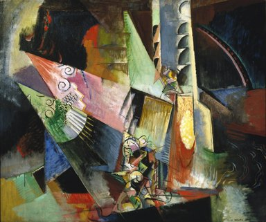 Max Weber (American, born Russia, 1881-1961). Russian Ballet, 1916. Oil on canvas, 30 x 36 in. (76.2 x 91.4 cm). Brooklyn Museum, Bequest of Edith and Milton Lowenthal, 1992.11.29