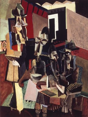 Max Weber (American, born Russia, 1881-1961). The Visit, 1919. Oil on canvas, 40 x 30 in. (101.6 x 76.2 cm). Brooklyn Museum, Bequest of Edith and Milton Lowenthal, 1992.11.30