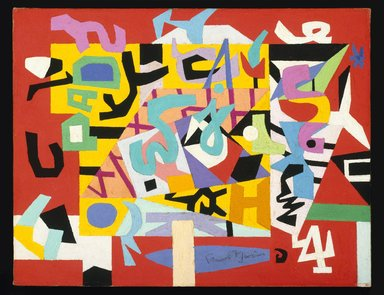 Stuart Davis (American, 1892-1964). Pad No. 4, 1947. Oil on canvas, 14 x 18 in. (35.6 x 45.7 cm). Brooklyn Museum, Bequest of Edith and Milton Lowenthal, 1992.11.5