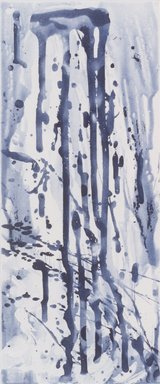 Pat Steir (American, born 1940). Narrow Waterfall, 1991. Soapground, sugarlift and spit bite aquatint on paper, sheet: 24 5/8 x 19 in. (62.5 x 48.3 cm). Brooklyn Museum, Gift of the Community Committee of the Brooklyn Museum, 1992.116.5. © Pat Steir
