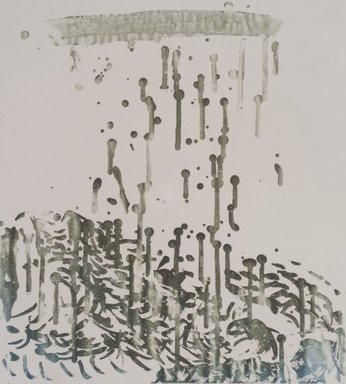 Pat Steir (American, born 1940). Raindrops, 1991. Soapground, sugarlift and spit bite aquatint on paper, sheet: 24 1/2 x 19 1/4 in. (62.2 x 48.9 cm). Brooklyn Museum, Gift of the Community Committee of the Brooklyn Museum, 1992.116.8. © Pat Steir