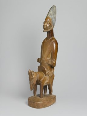 Yoruba. Figure of Shango on Horseback, early 20th century. Wood, pigment, 40 x 14 1/2 x 9 in. (101.6 x 36.8 x 22.9 cm). Brooklyn Museum, Gift of Corice and Armand P. Arman, 1992.133.4. Creative Commons-BY
