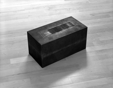 Frank Gerritz (German, born 1964). Block Formation III, 1992. Cast iron, 8 x 8 x 16 in. (20.3 x 20.3 x 40.6 cm). Brooklyn Museum, Purchase gift of an anonymous donor, bequest of Laura L. Barnes, by exchange, and Frank L. Babbott Fund, 1992.251. © Frank Gerritz
