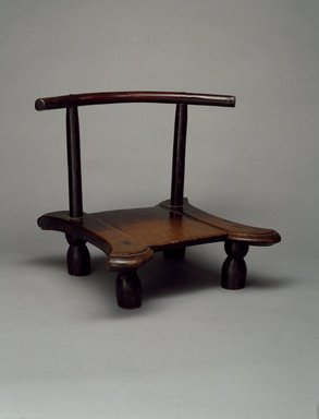 We. Chair, early 20th century. Wood, metal, 14 x 14 x 17 1/2 in. (35.6 x 35.6 x 44.5 cm). Brooklyn Museum, Gift of Blake Robinson, 1992.26.2. Creative Commons-BY