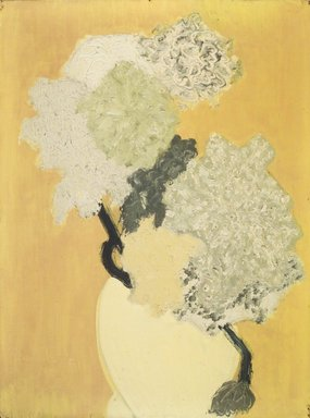 March Avery (American, born 1932). Vase with Blossoms. Oil on canvas, 22 1/2 x 18 in. (57.2 x 45.7 cm). Brooklyn Museum, Bequest of Ivor Green and Augusta Green, 1992.271.4. © March Avery
