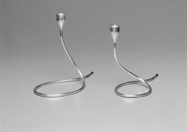 Marion Anderson Noyes (American, 1907-2002). Candlestick, ca. 1955. Silver, 7 1/2 x 9 1/2 x 4 1/4 in. (19.1 x 24.1 x 10.8 cm). Brooklyn Museum, Gift of Marion Anderson Noyes, 1992.40.32. Creative Commons-BY