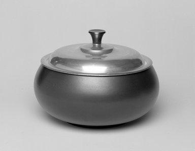 Marion Anderson Noyes (American, 1907-2002). Casserole. Ceramic, silver, plastic, 5 5/8 x 7 5/8 x 7 5/8 in. (14.3 x 19.4 x 19.4 cm). Brooklyn Museum, Gift of Marion Anderson Noyes, 1992.40.36a-b. Creative Commons-BY
