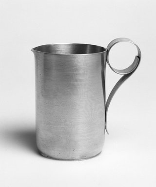 Marion Anderson Noyes (American, 1907-2002). Creamer, 20th century. Pewter, 3 3/4 x 3 3/4 x 2 1/4 in. (9.5 x 9.5 x 5.7 cm). Brooklyn Museum, Gift of Marion Anderson Noyes, 1992.40.8. Creative Commons-BY