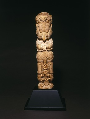 Throne Leg, 17th century. Ivory with traces of polychrome, 15 1/2 x 4 1/8 in. (39.4 x 10.5 cm). Brooklyn Museum, Gift of the Asian Art Council 