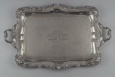 Gorham Manufacturing Company (founded 1865). Tray, ca. 1901. Silver, 2 1/4 x 32 1/4 x 20 3/4 in.  (5.7 x 81.9 x 52.7 cm). Brooklyn Museum, Gift of Mrs. William Bird Coler, 1992.90. Creative Commons-BY