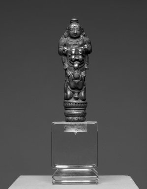 Finial, 17th century or earlier. Bronze, 3 1/4 x 1 1/8 in. (8.3 x 2.9 cm). Brooklyn Museum, Gift of Dr. Bertram H. Schaffner, 1993.106.15. Creative Commons-BY