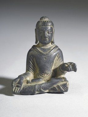 Gautama Buddha, 8th century. Bronze, overall (with mount): 2 1/2 x 2 x 1 3/8 in. (6.4 x 5.1 x 3.5 cm). Brooklyn Museum, Gift of Dr. Bertram H. Schaffner, 1993.106.1. Creative Commons-BY