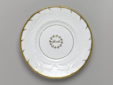 Plate from a Twelve Piece Tea Service, Patented 1853. Porcelain, 1 x 7 3/4 x 7 3/4 in. (2.5 x 19.2 x 19.2 cm). Brooklyn Museum, Gift of the Family of Paul E. Burtis, 1993.109.2. Creative Commons-BY