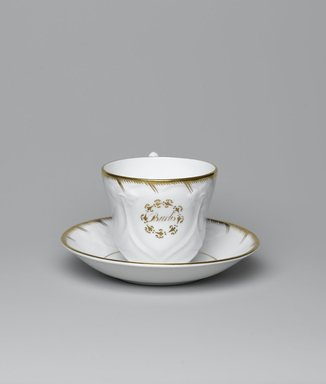 Cup and Saucer from a Twelve Piece Tea Service