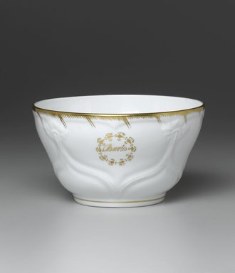Waste Bowl from a Twelve Piece Tea Service, Patented 1853. Porcelain, 3 1/4 x 6 1/4 x 6 1/4 in. (8.2 x 15.9 x 15.9 cm). Brooklyn Museum, Gift of the Family of Paul E. Burtis, 1993.109.9. Creative Commons-BY