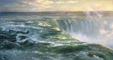 Louis Rémy Mignot (American, 1831-1870). Niagara, 1866. Oil on canvas, 48 3/4 x 91 1/2 in. (123.8 x 232.4 cm). Brooklyn Museum, Gift of Arthur S. Fairchild, 1993.118