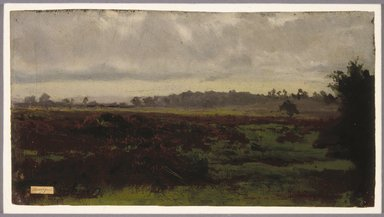 Auguste-François Bonheur (French, 1824-1884). Marshlands, mid 1850s. Oil on paper, 6 1/2 x 12 3/16 in. (16.5 x 31 cm). Brooklyn Museum, Healy Purchase Fund B, 1993.123.3