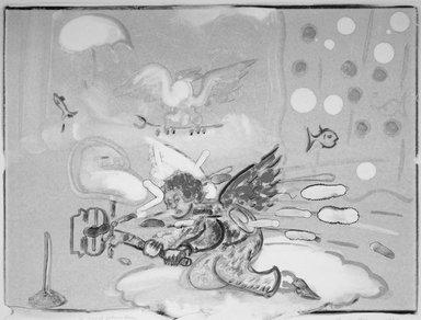 William Wegman (American, born 1943). A Good Plumber, 1987. Monoprint on paper, 28 x 36 in. (71.1 x 91.4cm). Brooklyn Museum, Gift of Rita Fraad in memory of her husband, Daniel J. Fraad, Jr., 1993.125. © William Wegman