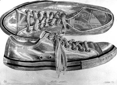Don Nice (American, born 1932). Double Sneaker, 1975. Lithograph on paper, 34 x 47 3/4 in. (86.3 x 121.3 cm). Brooklyn Museum, Gift of Richard Shebairo, 1993.126. © Don Nice