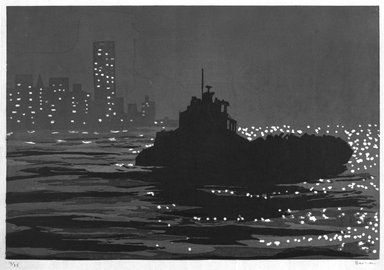 Richard Bosman (American, born India, 1944). Night Haul, ca. 1991. Woodcut on paper, Sheet: 24 3/4 x 33 3/4 in. (62.8 x 85.7 cm). Brooklyn Museum, Robert A. Levinson Fund, 1993.135.3. © Richard Bosman