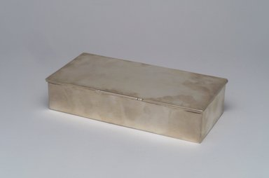William Dematteo. Cigarette Box, ca. 1955. Silver, cedar, 1 1/2 x 7 3/8 x 3 1/2 in.  (3.8 x 18.7 x 8.9 cm). Brooklyn Museum, Gift of Gertrude Fehl, 1993.149. Creative Commons-BY