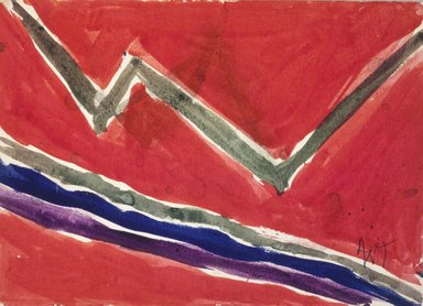 Alma W. Thomas (American, 1895-1978). Untitled, 1972. Watercolor on paper, 5 1/2 x 7 7/8 in. Brooklyn Museum, Gift of Peter J. and Charlotte M. Ketchum, 1993.160.6. © Estate of Alma W. Thomas