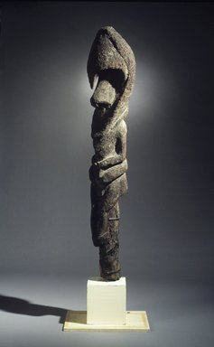 Figure (Nenna), 20th century. Tree fern, clay, vegetal-fiber paste, traces of yellow pigment, 72 x 13 1/4 x 12 in. (182.9 x 33.7 x 30.5 cm). Brooklyn Museum, Gift of Alyce and Roger Rose, 1993.181.2. Creative Commons-BY