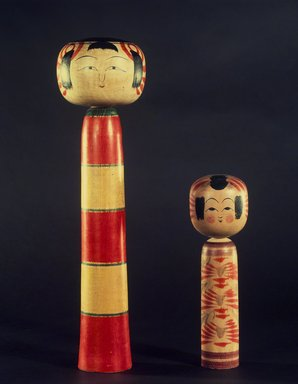 Kokeshi (Limbless Wooden Doll), ca. 1940. Wood, height: 16 1/2 in. Brooklyn Museum, Gift of Dr. and Mrs. John P. Lyden, 1993.194.1. Creative Commons-BY