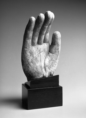 Hand from a Buddhist Image, Ming Dynasty, ca. 1368-1644. Wood with traces of polychromy, 18 1/2 x 8 1/2 in. Brooklyn Museum, Gift of Arthur E. Smith, 1993.200. Creative Commons-BY
