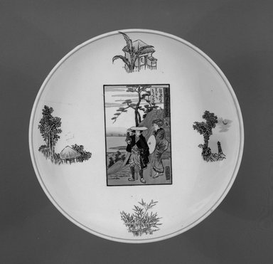 Josiah Wedgwood & Sons Ltd. (founded 1759). Footed Dish, ca. 1759-1900. Glazed earthenware with transfer printed decoration, height: 5 in. (12.8 cm). Brooklyn Museum, Gift of Paul F. Walter, 1993.209.51. Creative Commons-BY