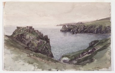 William Trost Richards (American, 1833-1905). Cornwall, 1878-1880. Opaque watercolor on paper, Sheet: 8 1/16 x 12 5/16 in. (20.5 x 31.3 cm). Brooklyn Museum, Gift of Edith Ballinger Price, 1993.212.3
