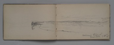 William Trost Richards (American, 1833-1905). Sketchbook: Overland Trip to Washington Territory, September 1885. Graphite on white paper, 5 1/16 x 7 5/8 in. Brooklyn Museum, Gift of Edith Ballinger Price, 1993.225.2