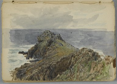 William Trost Richards (American, 1833-1905). Sketchbook: English Coastal Scenery, 1878. Graphite and some watercolor on beige, medium thick, smooth wove paper, Closed: 5 1/4 x 7 3/8 in. (13.3 x 18.7 cm). Brooklyn Museum, Gift of Edith Ballinger Price, 1993.225.7